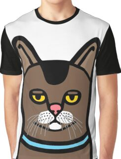 Bored Cat Graphic T-Shirt