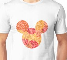 Mouse Floral Sun Coloured Patterned Silhouette Unisex T-Shirt