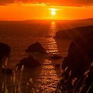 wild atlantic way rocky sunset by morrbyte