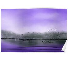 The Purple Colored Sky Poster