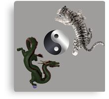 Yin Yang Art Canvas Print