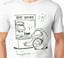 Ape with Enormous Coin Buys Hot Dog Unisex T-Shirt