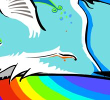 Rainbow Fox Sticker
