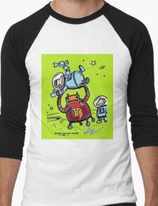 Robot Ape Goes Berserk Men's Baseball ¾ T-Shirt