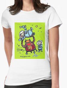 Robot Ape Goes Berserk Womens Fitted T-Shirt