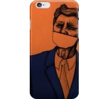 JFK without a mouth iPhone Case/Skin
