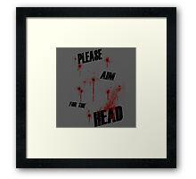I'm a zombie... Framed Print