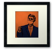 JFK without a mouth Framed Print