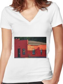 Horne's Towing Women's Fitted V-Neck T-Shirt