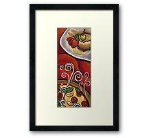 Pizza and Dessert  Framed Print