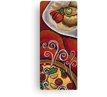 Pizza and Dessert  Canvas Print
