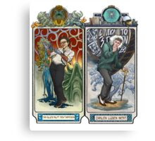K-Science, Mucha Style! Canvas Print