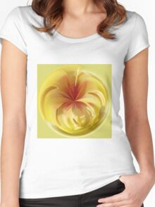 Trapped in a sphere Women's Fitted Scoop T-Shirt