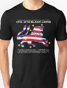 VFA-213 BLACK LIONS UNITED STATES NAVY STRIKE FIGHTER SQUADRON T-SHIRTS Unisex T-Shirt