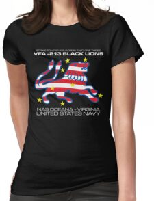 VFA-213 BLACK LIONS UNITED STATES NAVY STRIKE FIGHTER SQUADRON T-SHIRTS Womens Fitted T-Shirt