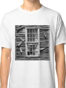 Old Mill Window BW SQ Classic T-Shirt