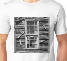 Old Mill Window BW SQ Unisex T-Shirt