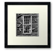 Old Mill Window BW SQ Framed Print