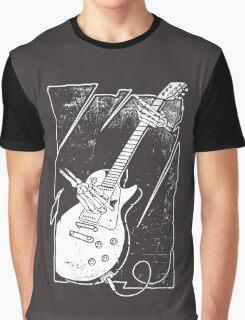 Skull Guitar Player Graphic T-Shirt