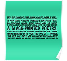 black-painted poetry Poster