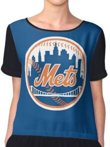 New York Mets - Royal Blue Chiffon Top