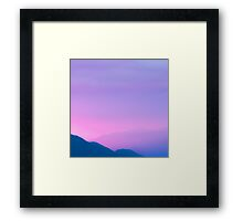 Sunset Layers Framed Print