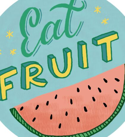 Eat Fruit Sticker