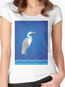 Florida Egret Women's Fitted Scoop T-Shirt