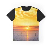 wild tall grass on the wild atlantic way orange sunset Graphic T-Shirt