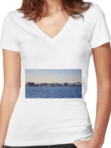 A Boston View 123 Women's Fitted V-Neck T-Shirt