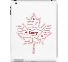Essential Translation for Canadians iPad Case/Skin