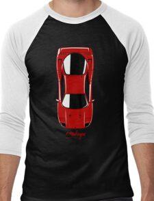 Ferrari F40 (top view) Men's Baseball ¾ T-Shirt