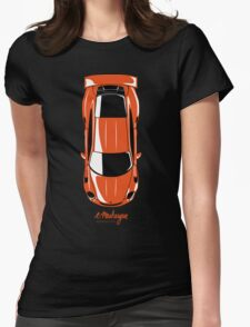 Porsche GT3 RS (top view) Womens Fitted T-Shirt