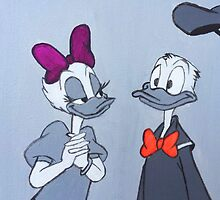 Accented Donald and Daisy  by AmandaRuthArt