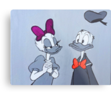 Accented Donald and Daisy  Metal Print