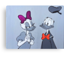 Accented Donald and Daisy  Canvas Print