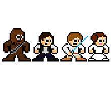8-bit Chewie, Han, Luke & Leia Photographic Print