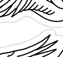 Frank Iero's Revenge Bird Tattoos Sticker