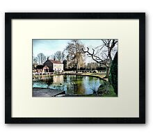 The Village Pond Framed Print