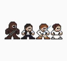 8-bit Chewie, Han, Luke & Leia Kids Clothes