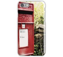 Vintage red postbox in the countryside iPhone Case/Skin