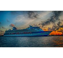 CELEBRITY X CRUISE, {Naval Dockyard Bermuda}.. Photographic Print