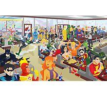DC Comics Stops For Burgers Photographic Print