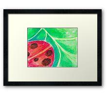 Lady of the Leaf Framed Print