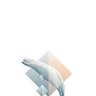 Beluga whale geometric design symbol by Diana Hlevnjak