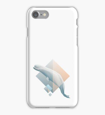 Beluga whale geometric design symbol iPhone Case/Skin