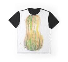 Delicata Squash Painted in Watercolor Graphic T-Shirt