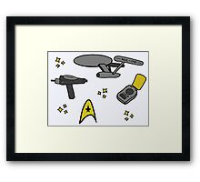Star Trek Pattern Framed Print