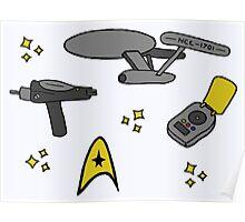 Star Trek Pattern Poster