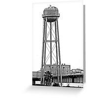 B&W - Water Tower in Rural California Greeting Card